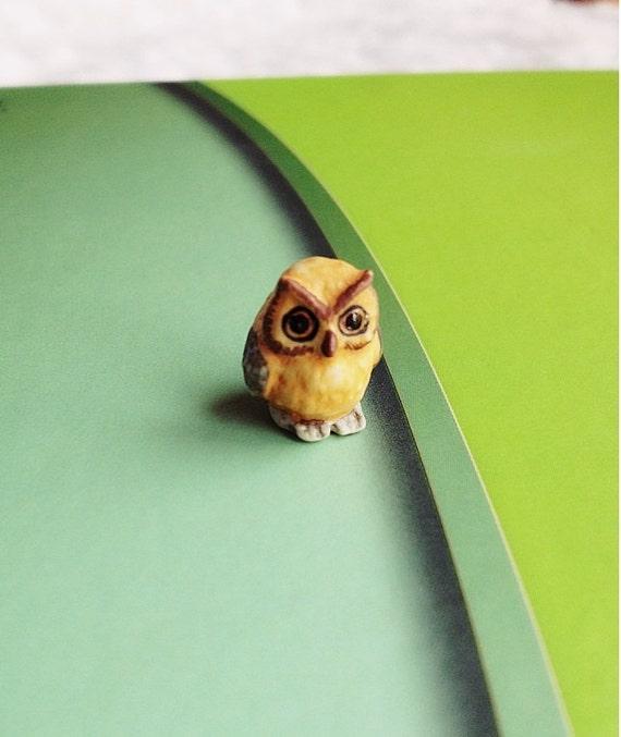 Miniature Owl,Little Owl, Tiny Owl,Small Owl,Miniature Animal,Doll and Miniature,Dollhouse,Owl,Miniature bird,Miniature fairy garden