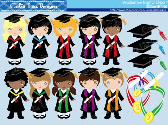 Graduation Clipart Graduation Kids clip art/ for Personal
