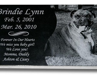 "Standard Pet Grave Marker Headstone (X Large 14"" x 8"" x 1"") for Dogs & Cats"