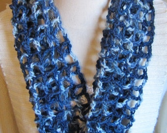 Crochet Cowl in Blue's