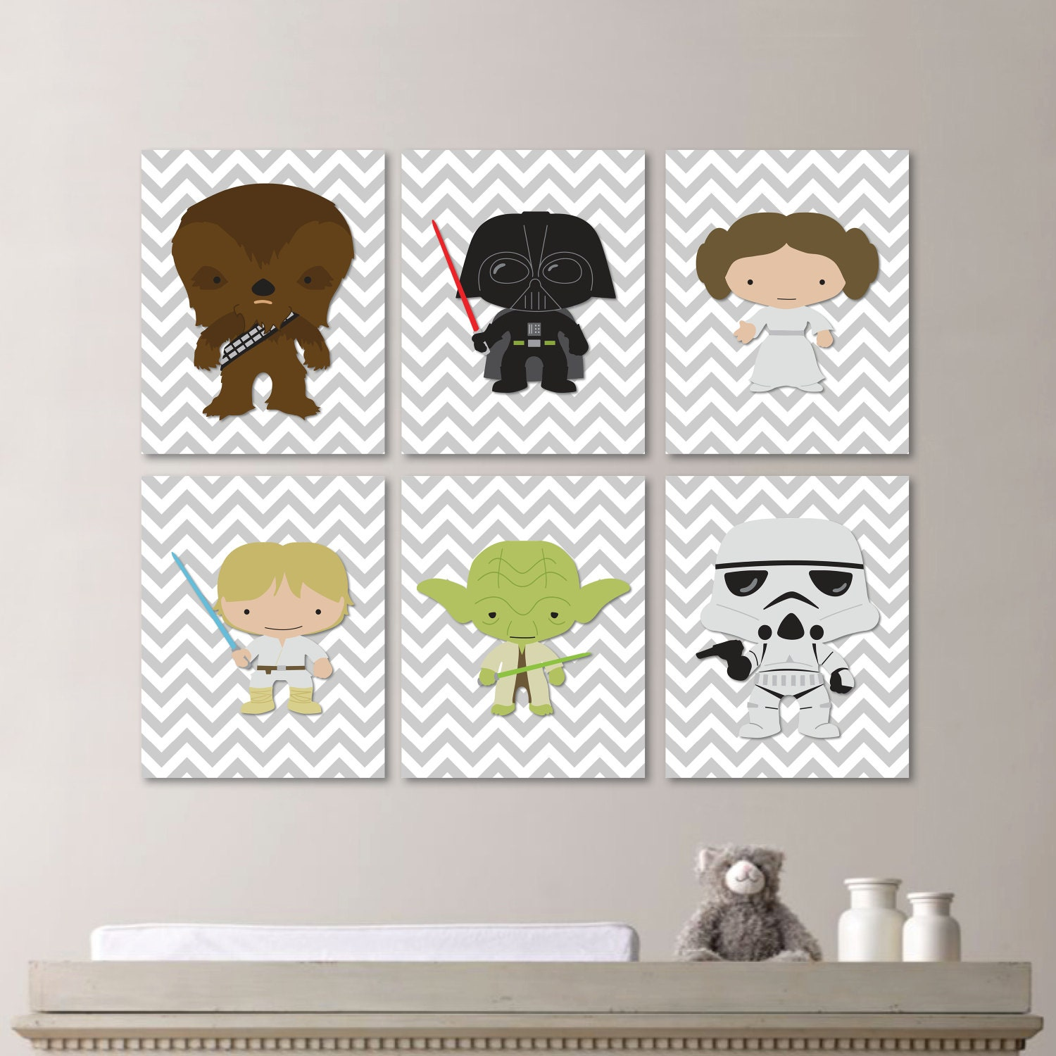 Star wars nursery art baby boy nursery print nursery art for Boys wall art
