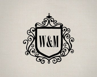 Digital Monogram - Printable Monogram - Wedding Digital Monogram - Printable Wedding Monogram
