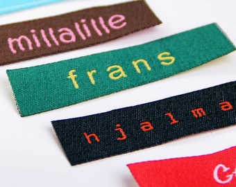 Woven Labels - Text & Symbol