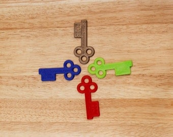 The small keys. Pack of 8
