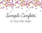ETSY SHOP BANNER Premade Simple Confetti design
