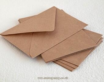 "60 Kraft Envelopes, C6 Brown Ribbed Envelopes, 4 1/2 x6 3/8"" Envelopes, Kraft Paper Envelopes C6 - PSS016"