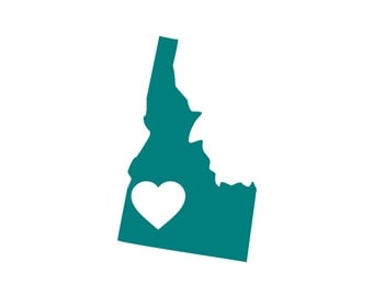 I Love Idaho Custom Die Cut Vinyl Decal Sticker - Choose your Color and Size