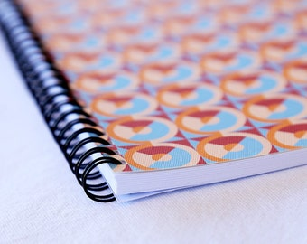 A5 Spiral-bound Notebook 'Mr. Rochester' geometric pattern - 50 pages