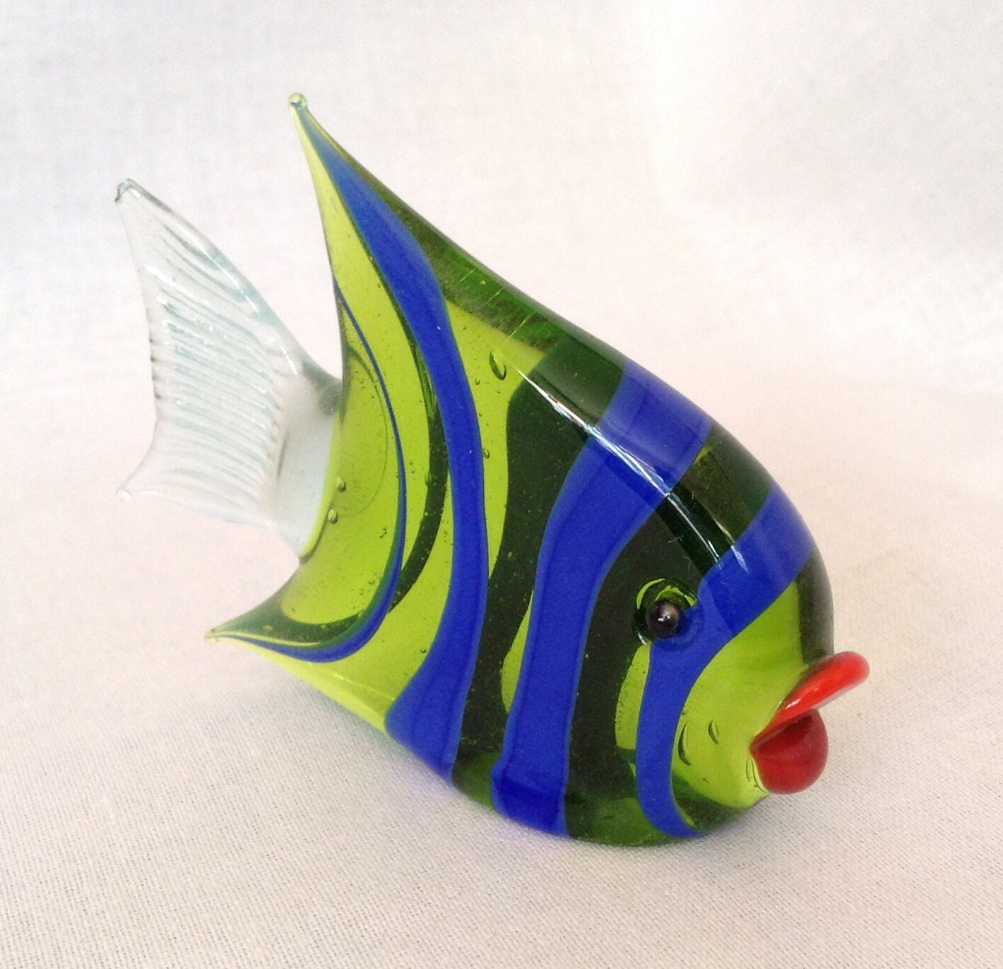 Blown glass fish 3 0 x 5 by francescasfavorites on etsy for Blown glass fish