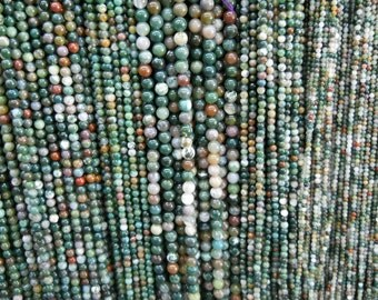 4mm indian agate round beads, 15.5 inch