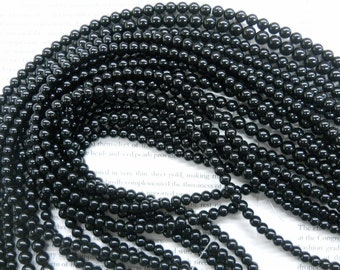 6mm obsidian round beads, 15.5 inch