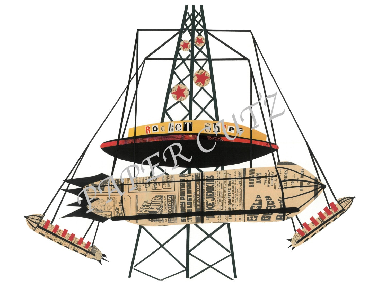 Euclid Beach Rocket Ships Print