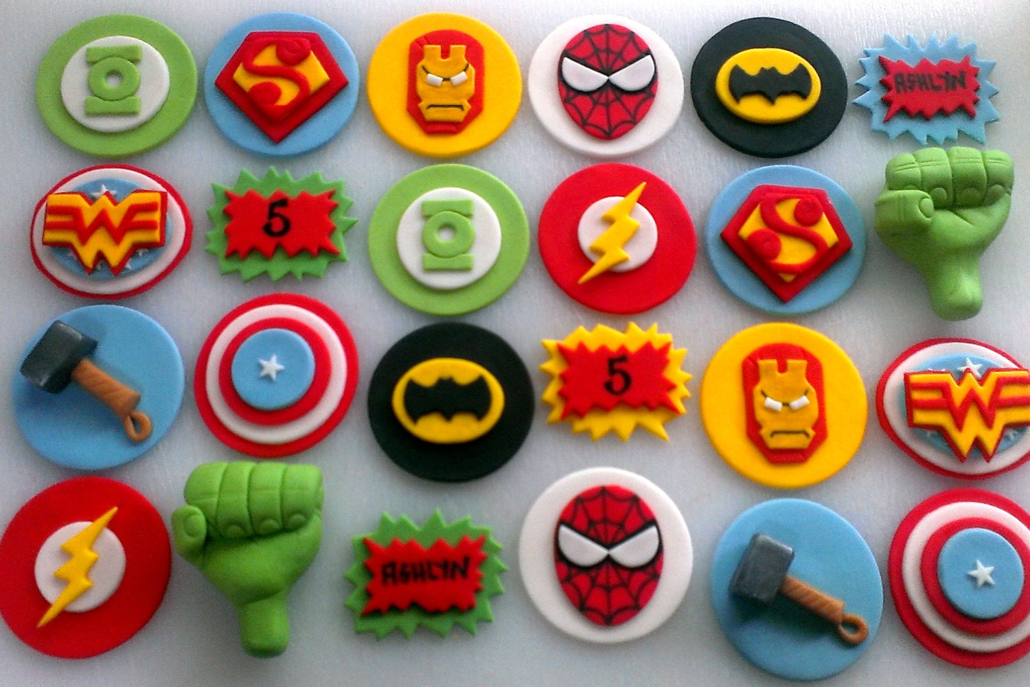 Avengers amp Justice League Superhero Cupcake Toppers By