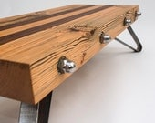 Coffee Table, reclaimed wooden beams, steel legs