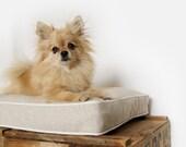 Lit pour animaux | Petit, medium | Housse de coussin pour chat et petit chien en beige naturelet crème | Décor modene, neutre et minimaliste