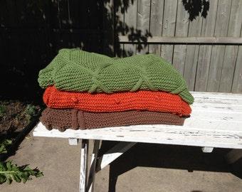 Handknit blankets