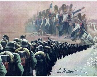 """WW2 French """"La releve"""" propaganda poster"""