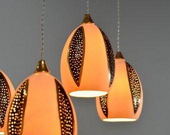 Unique Hanging Lamps view on salerachelnadlerceramics on etsy