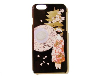 Japanese traditional lacquer designs iPhone case.  <iPhone6> MAIKO