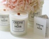 Sale - CREME&NOIR Bridal Shower Natural soy candle with therapeutic essential oil and wood wick