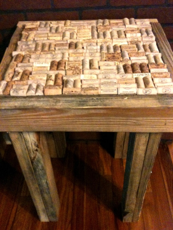 Items Similar To Repurposed Pallet Wood Wine Cork End