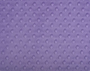 Jewel Cuddle Minky Dot Fabric  (Shannon Fabrics) Lavender Purple Lilac