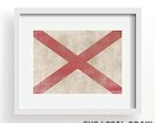 Alabama Flag Print