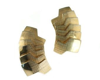 SALE--Tiered Gold Plated Earrings