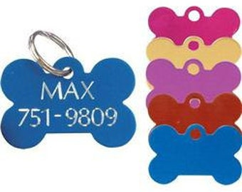 Large Bone Pet ID Tag with Split Ring