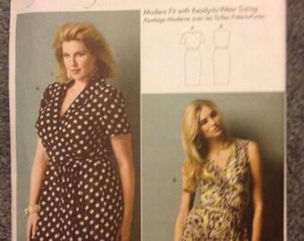 Butterick B5898 plus size plus fashion dresses