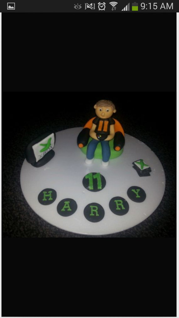 edible xbox ps3 ps4 boys birthday cake topper celebration