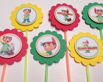 Handy Manny Disney Junior  cupcake toppers - Set of 12