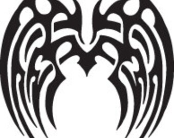 Angel Wings Tribal Decal - Multiple Colors Available