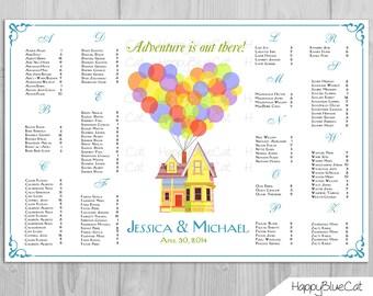 Wedding Seating Chart -  FREE RUSH service UP! Pixar Inspired Wedding Seating Chart Reception Poster - Digital Printable File - HBC4