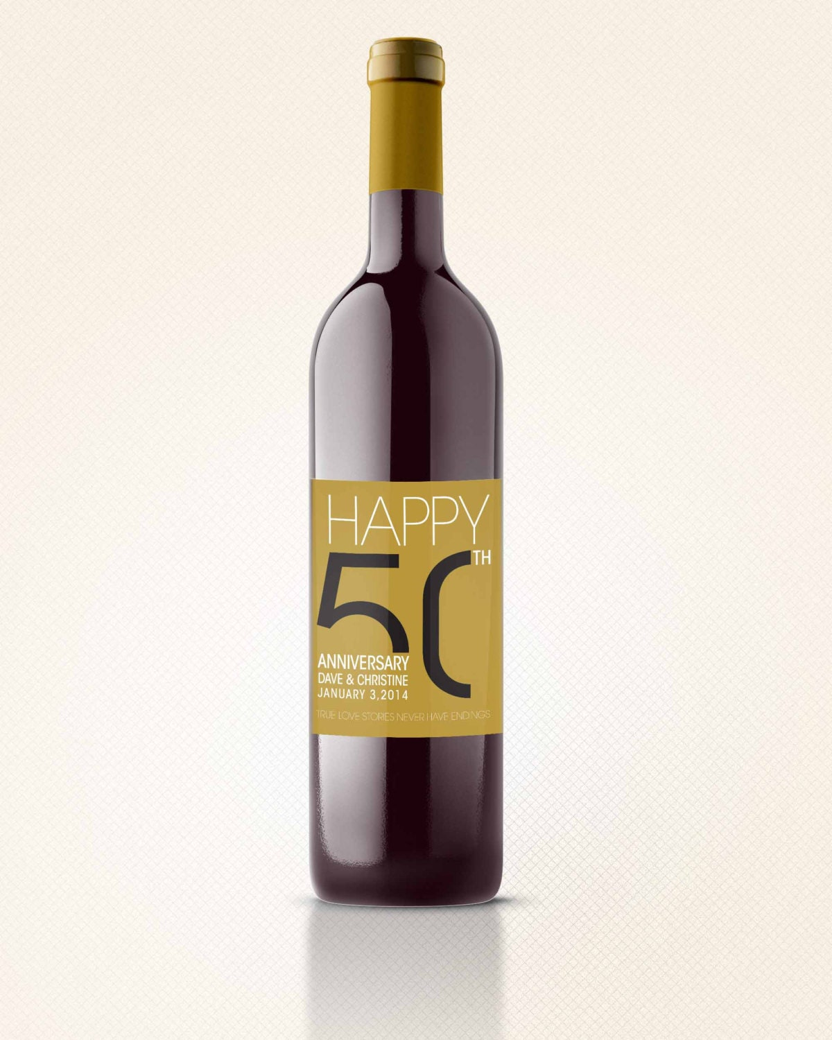 Personalized Wine Labels For 50th Birthday Personalized