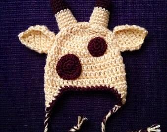 Little giraffe crochet hat newborn baby child