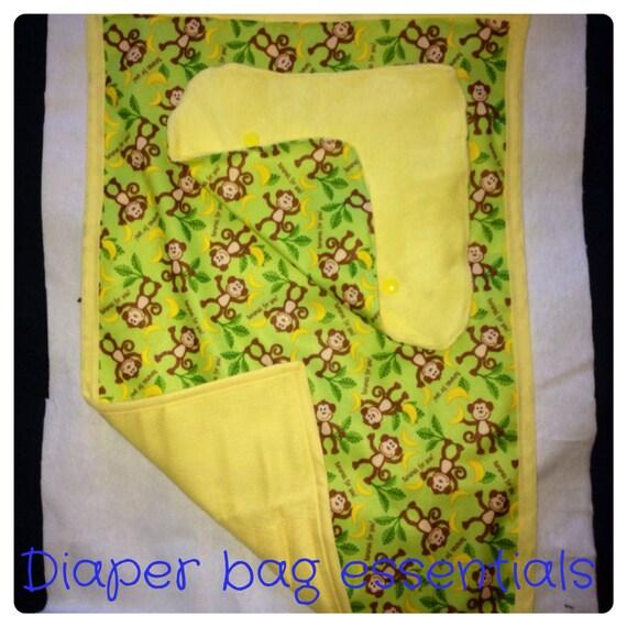 baby shower gift set diaper bag essentials changing pad burp
