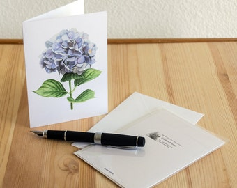 Hydrangea Watercolor Notecard