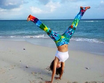 Hand-Dyed and Washed Tie-dye Yoga Pants