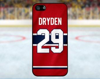 Ken Dryden - Montreal Canadiens Case: iPhone 4/4S, 5/5S/SE, 5C, 6/6S, 6 plus/6S plus / Samsung Galaxy S3, S4, S5, S6, S7