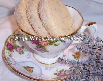 Lavender Shortbread Cookies 1 dozen Gourmet