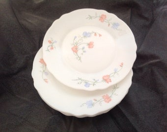 Vintage The Lot of 5 small dessert plates, arcopal FRANCE, 70's.