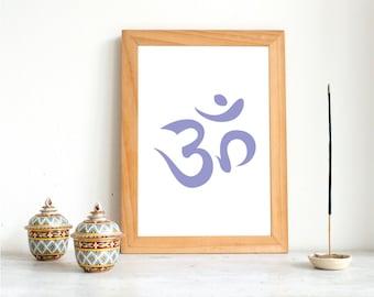 Yoga Printable | Om Zen Print | Yoga Poster | Instant Download | Home Decor | 8x10,A4 | Meditation | Wall Art