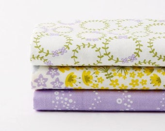 Wildflower - Quarter Fabric Pack 3 Fabric 1set - Sets for 3 each 45 X 55 cm