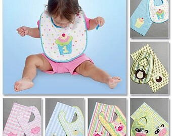 McCall's Sewing Pattern M6478 Infants' Bibs and Burp Cloths
