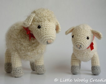 Crochet Pattern Cora the Sheep and Sofie the little lamb (US Terms)