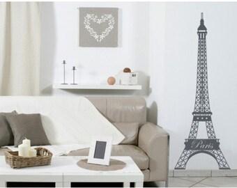 Eiffel Tower wall decal, sticker, mural, vinyl wall art