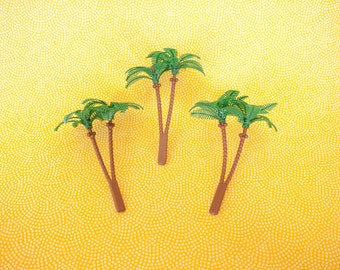 12 Tropical Palm Tree Cupcake Picks