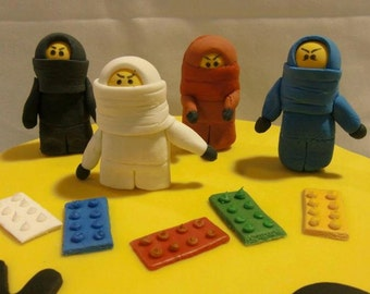Ninjago Cake Topper - Gum Paste Figurine (Customize it!)