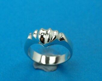 Sterling silver 925 ring -  Freeform . Weight: 4.0 grams